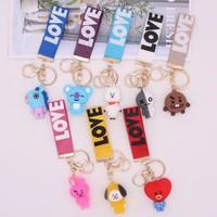 gantungan kunci bt21 love / gantungan kunci 3susun/gantungan kunci bts - bt21 Love