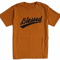 Baju T-shirt Kaos Blessed Grace.Co kuning mustard