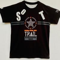 Baju Kaos Star Trail Lengan Pendek Anak Laki-laki Usia 8-10 Tahun