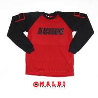 Kaos Tactical BLACKHAWK Panjang Merah - M