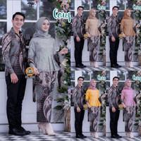 Batik Couple Kebaya Brokat Gisella Baju Pesta Kondangan Lamaran Keren
