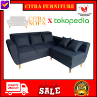 Sofa Minimalis L Putus Retro   Scandinavian  Vintage Mystic