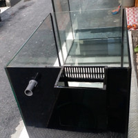 AQURIUM LAUT BOX OVERFLOW 60CM X 45CM KACA 8ML TEMPERED REFF TANK NANO