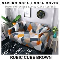Elastic Sofa Cover Pattern Sarung Penutup Sofa Elastis Stretch Corak