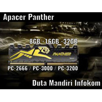 Apacer Panther Golden DDR4 8GB PC25600 3200MHz (1X8GB) Single Channel