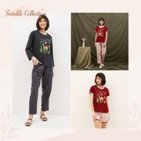 Baju Tidur Piyama Kaos Katun GREET E-285 Model Slim Fit