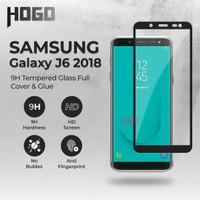 Tempered Glass SAMSUNG Galaxy J6 2018 HOGO Full Cover Anti Gores Kaca