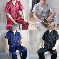 Piyama Pria Dewasa | Baju Tidur Laki laki Dewasa | Bahan katun Satin