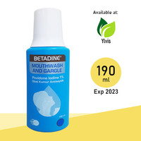 Betadine Mouthwash and Gargle - Obat Kumur Antiseptik 190 ml