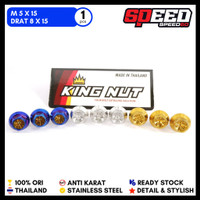 Aksesoris Motor Baut Probolt 5 x 15 Drat 8 x 15 Baut Flower King Nut