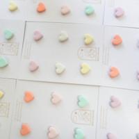 Ruby & Reverie - Mini Heart Stud Pack (18k Gold Plated Stud) Anting