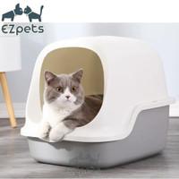 Tempat Pasir Kucing Jumbo Pintu Automatic Door Cat Kitten Litter Box