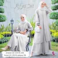 AFYA SET JUMBO by Shofiya Hijab   set atasan dan bawahan berkualitas