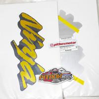 striping sticker fairing samping ninja rr old cbu hitam gold
