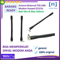 Antena Eksternal TS9 3dbi Modem Huawei E5372s Bolt Slim & Max 120mm