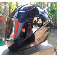 Flat Visor Iridium & Tear Off Post Helm Yamaha Free Talang Air