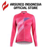 Baju Jersey Sepeda Lengan Panjang Wanita Roadbike MTB / ARSUXEO Z613