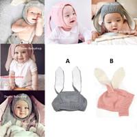 Topi Rajut Kelinci Anak Bayi Baby Hat Kado Bingkisan Hadiah Lahiran - A.
