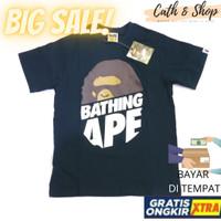 BIGSALE! KAOS BAPE NAVY HALF APE BATHING APE MIRROR PREMIUM QUALITY