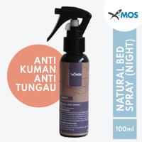 Anti Bacterial Anti Tungau - X-MOS Natural Bed Spray 100ML NIGHT