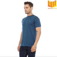[Bamboo Cotton] BASIC T SHIRT / KAOS PRIA - Biru, M