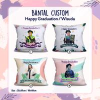 Bantal Custom nama foto 30x35 cm full sintetis berkualitas