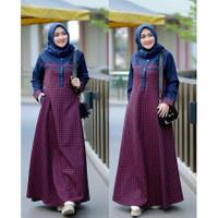 Baju Gamis Muslim Wanita Sabrina Square Maxi Jumbo