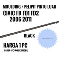 Pelipit Karet Pintu Kaca Luar Honda Civic FD FD1 FD2 2006 2008 - 2011