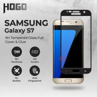 Tempered Glass SAMSUNG Galaxy S7 HOGO Full Cover Anti Gores Kaca - Hitam