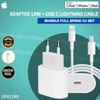 Charger iPhone 18W USB Type C Lightning Fast Charging Original Apple