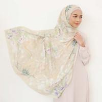 AZLOE CREAM - Novella Scarf   Hijab Segi Empat Superfine Voal