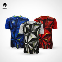 MILLS Baju Olahraga Jersey Sepakbola Futsal Endurance 1012 - Grey, S