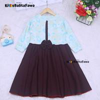 Dress Valencia 7-8 Tahun / Baju Perempuan Dress Anak Lengan Panjang