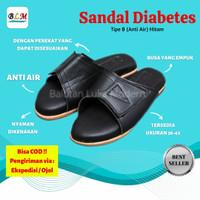 Sandal diabetes khusus wanita anti air warna hitam (PEKA)