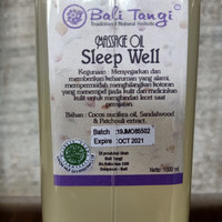 Bali Tangi Massage Oil Sleep Well 1 Liter