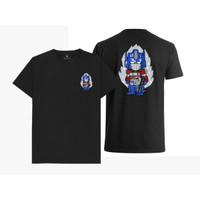 Baju Kaos Chibi Optimus Prime Transformers (Hitam, Putih)