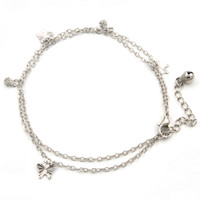 Gelang Kaki Perak Wanita / Anklet Ankle Bracelet AGW15