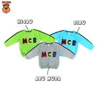 MacBear Baju Anak Laki-laki Sweater Alphabet Collection Bordir MCB - Toska, SIZE 6