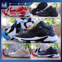 Sepatu Voli Asics Gel Burst 24 Sepatu Olahraga Volley Import Gelburst - White Orange, 45