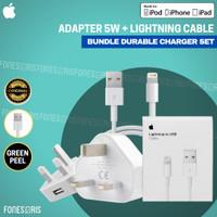 Charger iPhone Kaki 3 Kabel Lightning Fast Charging Original Apple