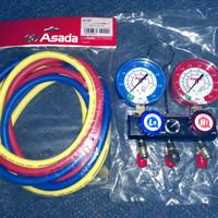 Asada Manifold Gauge R32 / R410a + 1 set Hose ( 3 bh )
