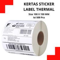 KERTAS STICKER LABEL PRINTER BARCODE 100 X 150 MM - THERMAL 500 Pcs