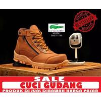 Sepatu boots safety pria ujung besi crocodile ujung besi morisay box - Hitam, 39