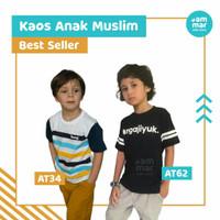 Kaos Anak Cowok Muslim Ammarkids Baju Anak Laki-Laki Dakwah Bisa COD - AT62-NGAJIYUK-, S