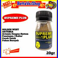 Artemia Supreme Plus 20gram / SupremePlus Golden West Kultur 20gram