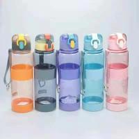 botol minuman minum air anak sekolah olah raga bottle 600ml 058 - 058 biru