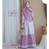 Baju Gamis Syari Wanita Zifani Plus Kerudung Fashion Muslim Perempuan