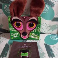 the body shop headband deer bandana masker bundle japanese tea mask