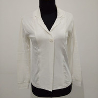 blazer jaket kaos warna putih santai tapi resmi baju atasan wanita