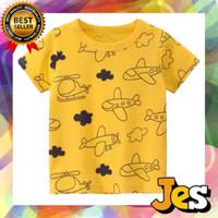 Baju atasan anak laki-laki / kaos pesawat kuning usia 1-10Tahun